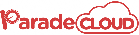 red colored Parade Cloud logo